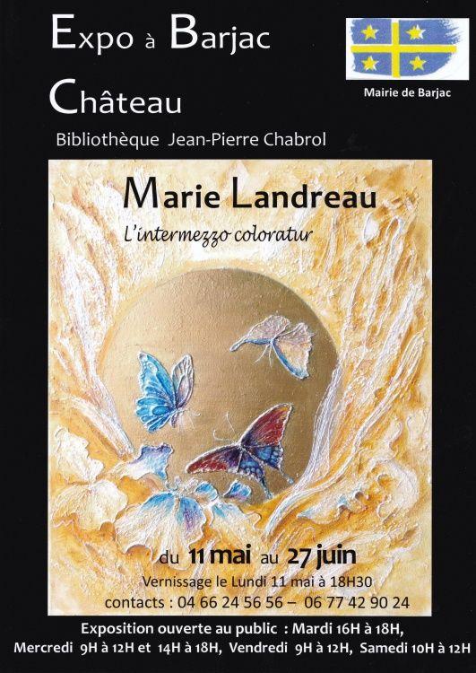 exposition Marie Landreau château de Barjac