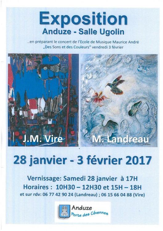 Anduze  Tableau Exposition Peinture Peintre Artistes Marie Landreau Cévennes