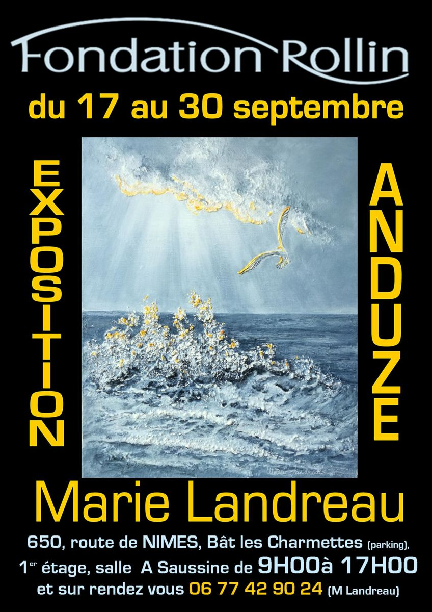 Exposition, Marie Landreau, Fondation Rollin, Anduze, Gard